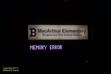 MacArthur Elementary School - Error Sign