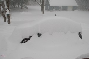 "My car under 16.5"" of snow."