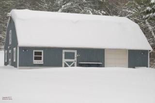 Snowstorm 170314.  The barn.