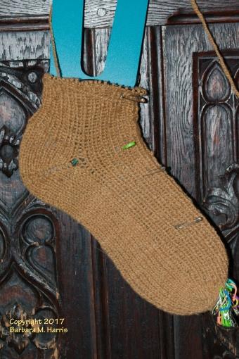 S-06 sock, heel completed.