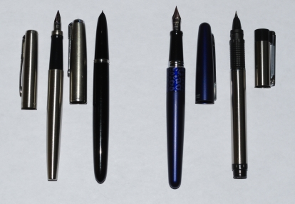 Fountain Pens, Uncapped